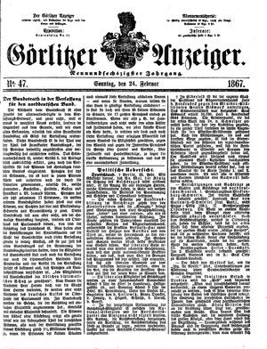 Görlitzer Anzeiger vom 24.02.1867