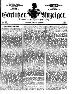 Görlitzer Anzeiger vom 27.02.1867