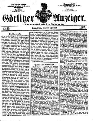 Görlitzer Anzeiger vom 28.02.1867