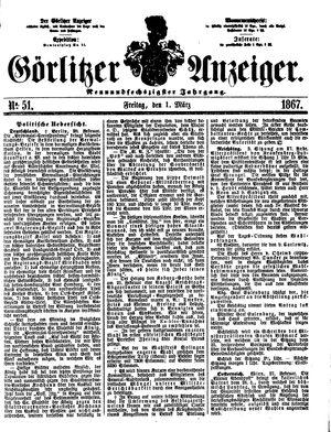 Görlitzer Anzeiger vom 01.03.1867