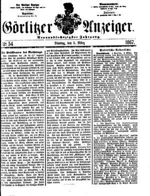 Görlitzer Anzeiger vom 05.03.1867