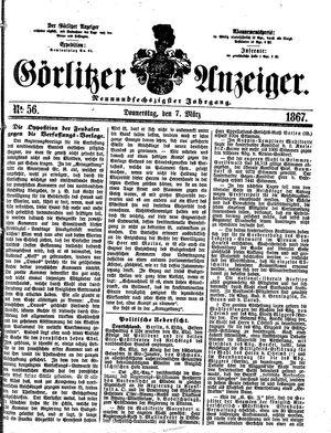 Görlitzer Anzeiger vom 07.03.1867