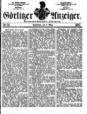 Görlitzer Anzeiger vom 09.03.1867