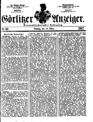 Görlitzer Anzeiger vom 12.03.1867