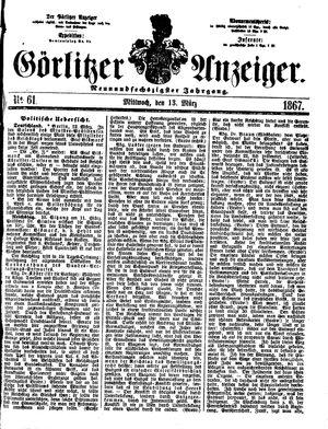 Görlitzer Anzeiger vom 13.03.1867