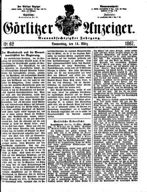 Görlitzer Anzeiger vom 14.03.1867