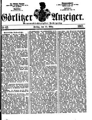 Görlitzer Anzeiger vom 15.03.1867