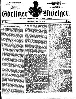 Görlitzer Anzeiger vom 16.03.1867
