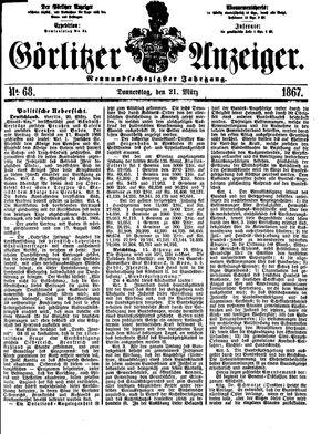 Görlitzer Anzeiger vom 21.03.1867