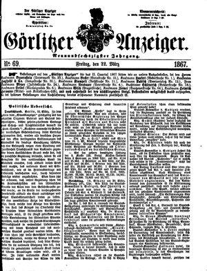 Görlitzer Anzeiger vom 22.03.1867