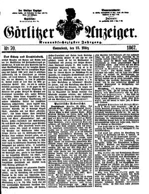 Görlitzer Anzeiger vom 23.03.1867