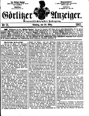 Görlitzer Anzeiger on Mar 24, 1867