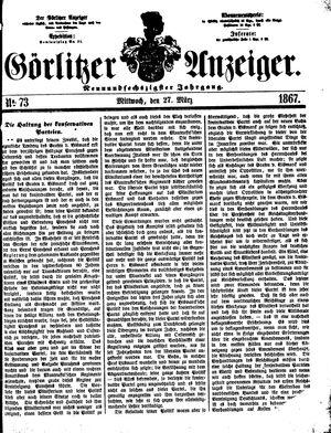 Görlitzer Anzeiger vom 27.03.1867