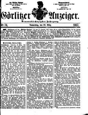 Görlitzer Anzeiger vom 28.03.1867