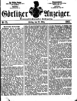 Görlitzer Anzeiger vom 29.03.1867