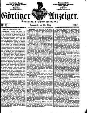 Görlitzer Anzeiger vom 30.03.1867