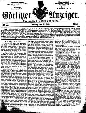 Görlitzer Anzeiger vom 31.03.1867