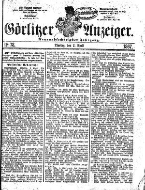 Görlitzer Anzeiger vom 02.04.1867
