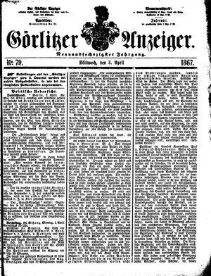 Görlitzer Anzeiger on Apr 3, 1867