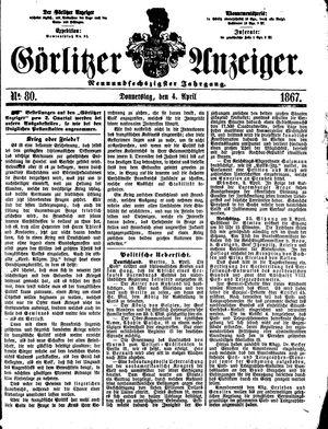 Görlitzer Anzeiger vom 04.04.1867