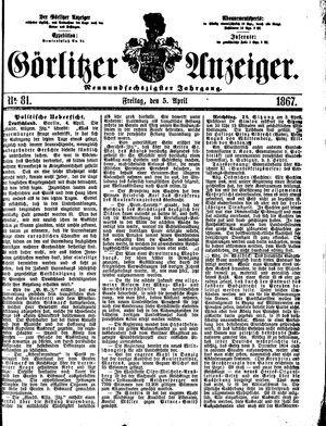 Görlitzer Anzeiger vom 05.04.1867