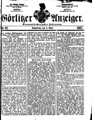 Görlitzer Anzeiger on Apr 6, 1867