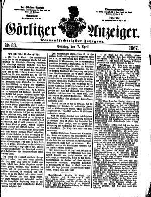 Görlitzer Anzeiger vom 07.04.1867