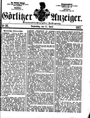 Görlitzer Anzeiger vom 11.04.1867