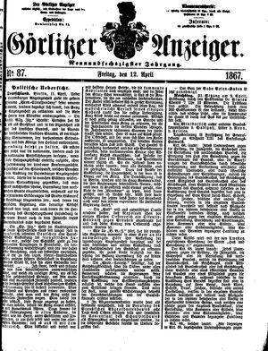 Görlitzer Anzeiger on Apr 12, 1867