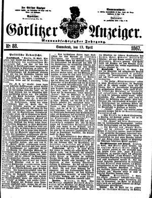 Görlitzer Anzeiger vom 13.04.1867