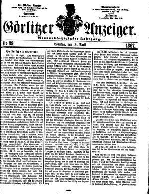 Görlitzer Anzeiger vom 14.04.1867
