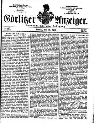 Görlitzer Anzeiger vom 16.04.1867