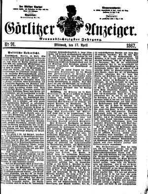 Görlitzer Anzeiger on Apr 17, 1867