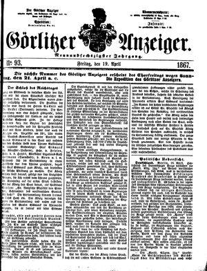 Görlitzer Anzeiger vom 19.04.1867