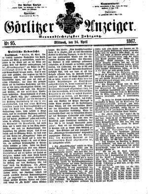 Görlitzer Anzeiger vom 24.04.1867