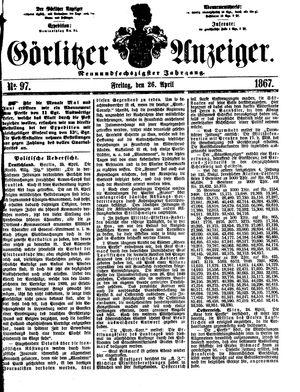 Görlitzer Anzeiger vom 26.04.1867