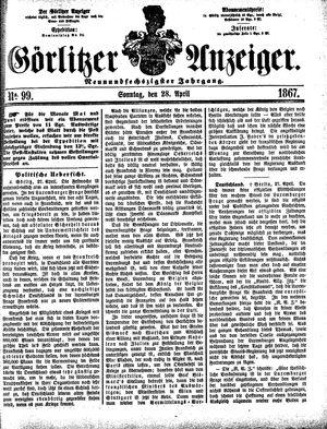 Görlitzer Anzeiger vom 28.04.1867