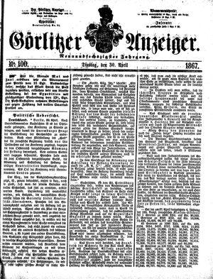 Görlitzer Anzeiger vom 30.04.1867