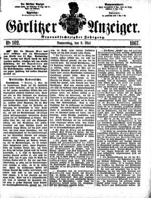 Görlitzer Anzeiger vom 02.05.1867