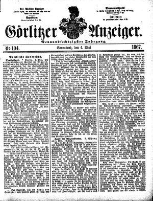 Görlitzer Anzeiger vom 04.05.1867