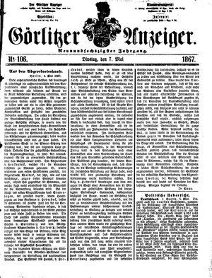 Görlitzer Anzeiger vom 07.05.1867