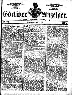 Görlitzer Anzeiger vom 09.05.1867