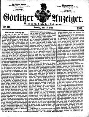 Görlitzer Anzeiger vom 12.05.1867