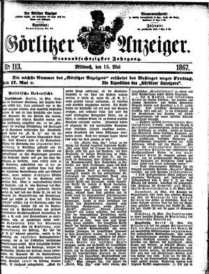 Görlitzer Anzeiger vom 15.05.1867