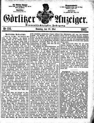 Görlitzer Anzeiger vom 19.05.1867