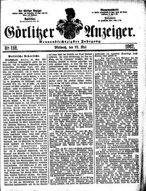 Görlitzer Anzeiger vom 22.05.1867