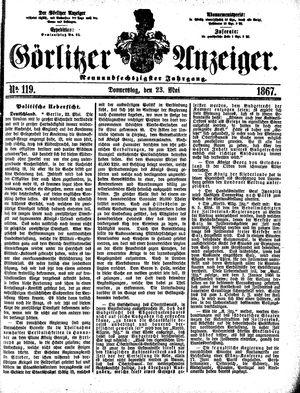Görlitzer Anzeiger vom 23.05.1867