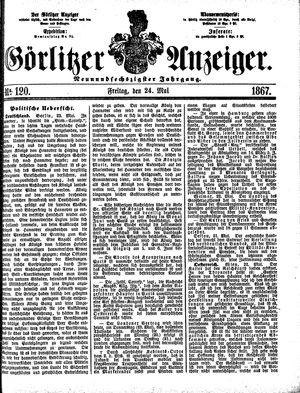 Görlitzer Anzeiger vom 24.05.1867