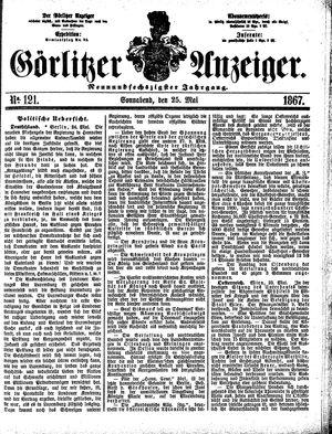 Görlitzer Anzeiger vom 25.05.1867