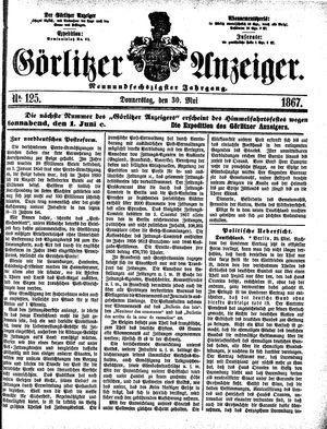 Görlitzer Anzeiger vom 30.05.1867